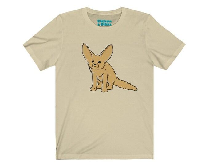 Fennec Fox Shirt - African Desert Fox Unisex Jersey Short Sleeve Tee