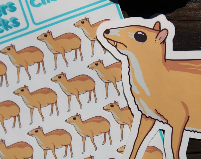 Chevrotain Sticker - Fanged Mouse-Deer Planner Stickers and/or Decal