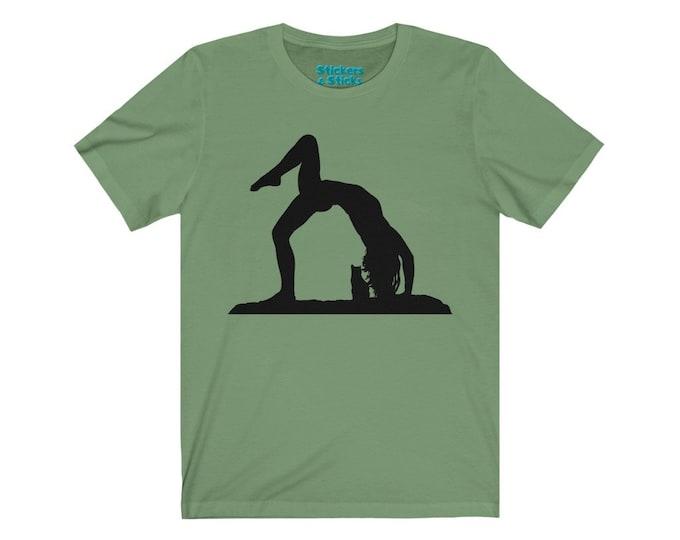 Yoga With Cats - Bridge Pose - Cat Lovers - Yoga Inspiration - Unisex Ultra Cotton Tee