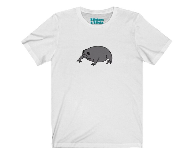 Grumpy Frog T-shirt - No Words - Sad Black Rain Frog Shirt - Unisex Jersey Short Sleeve Tee