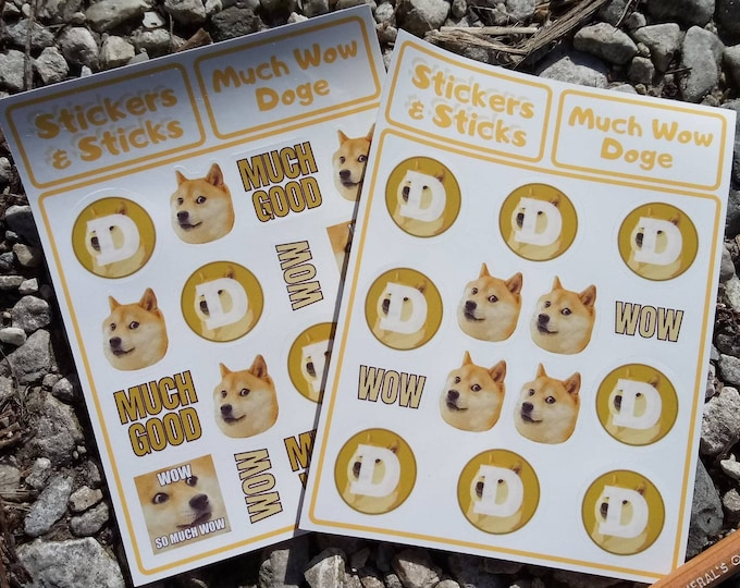 Doge Sticker Sheet - Much Wow Dogecoin!