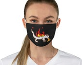 On Fire and Vomiting - Fabric Face Mask - How's Your 2020?