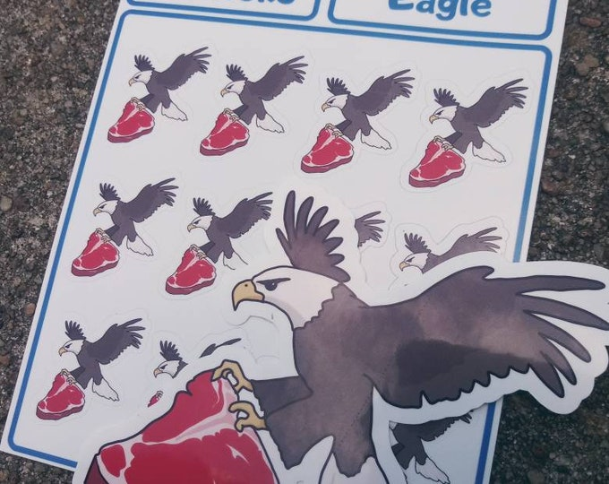 Beef Eagle Sticker - Funny Planner Sticker Sheet