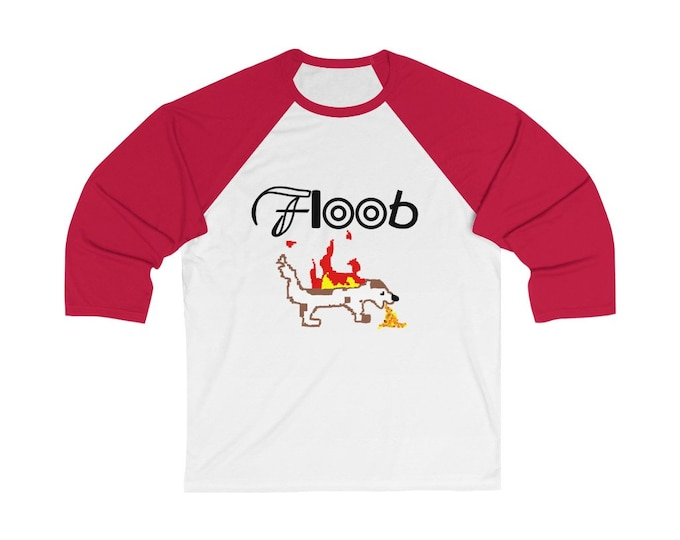 Floob Records Classic Tshirt - Unisex 3/4 Sleeve Baseball Tee - Support Indie Music!
