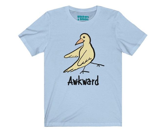 Awkward T-shirt -  Cute Yellow Bird Shirt - Unisex Jersey Short Sleeve Tee
