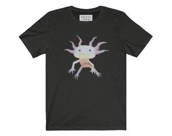 Axolotl Mexican Walking Fish Tshirt - Endangered Animal Unisex Jersey Short Sleeve Tee