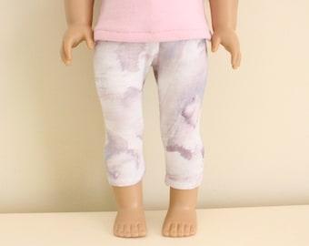 Purple Printed Leggings for 18 inch dolls; fits American Girl