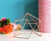 Gifts Under 10 - COPPER DOME - Coffe Table Decor, Office Desk Decor, Copper SPHERE Geometric Ornament, Wedding Decor