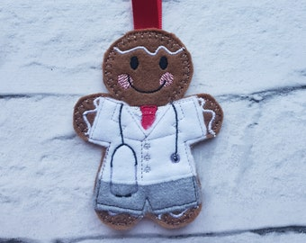 Nurse Decoration Hospital Medical Staff Gingerbread Man Hanging Decoration