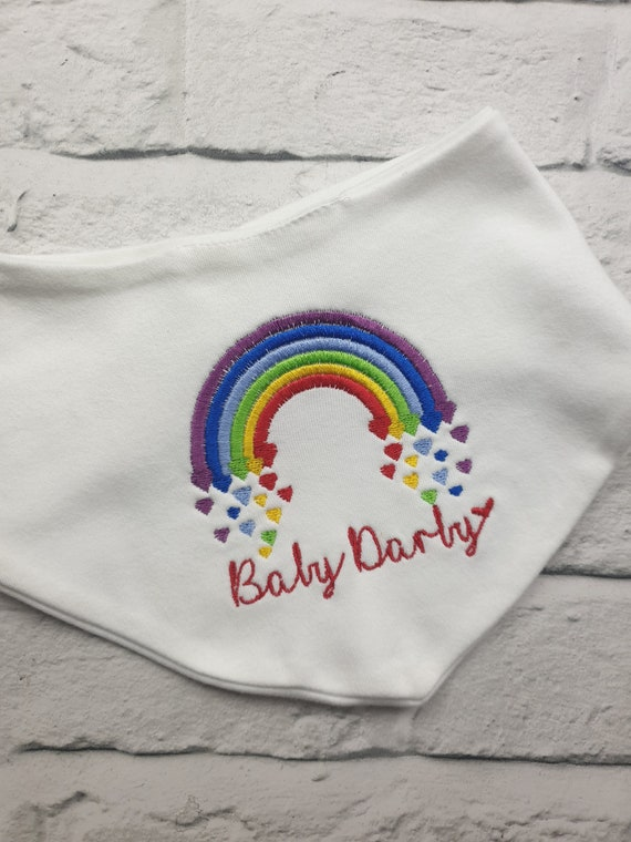 Daddys Little Girl Embroidered Baby Bandana Dribble Bib Gift Personalised