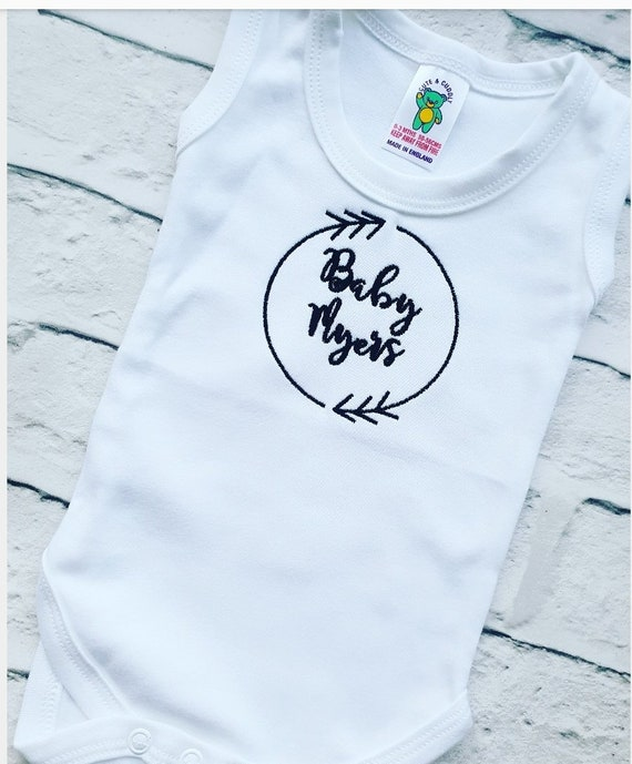2 Personalised Baby Vests New baby clothes Embroidered,Pregnancy announcement