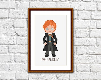 Ron Weasley Cross Stitch Pattern, Ron Weasley Patterns, Modern Cross Stitch Pattern, Harry Potter Doanload PDF #hp005