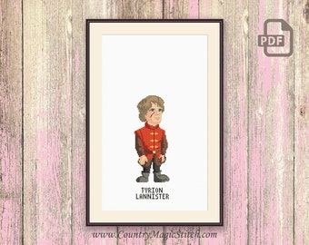 Tyrion Lannister Cross Stitch Pattern, Game of Thrones Characters Cross Stitch Pattern, Cross Stitch Pattern, Download PDF #gth012