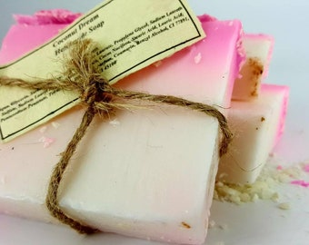 Coconut Soap - Coconut Dream - Natural Soap - Handmade Soap - Soap Bar - Artisan Soap - Coconut Soap Bar - Gifts for Her - Dried Coconut
