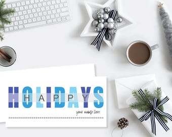 SET OF 18: Happy Holidays Check Cards