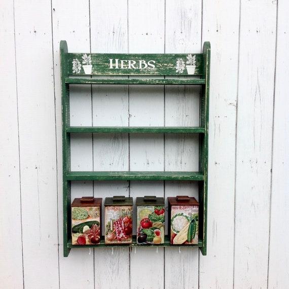 Küche Regale mit Holz-Kanister Set von 4 Gewürzdosen und Rack Storage Boxen  bin Display regalset mit Haken offenen Schrank
