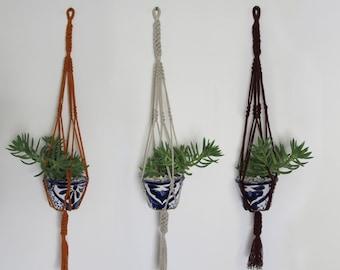 Frida macrame plant hanger, wall hanger, wall decor