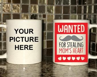 Mug - Wanted For Stealing Mom's Heart - Photo Mug
