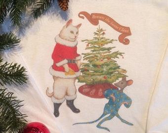 Holiday Pajamas 'Beware the Santa Claws'!
