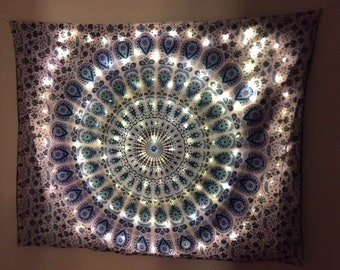 Large Mandala Tapestry With LED Lights Design Ideas