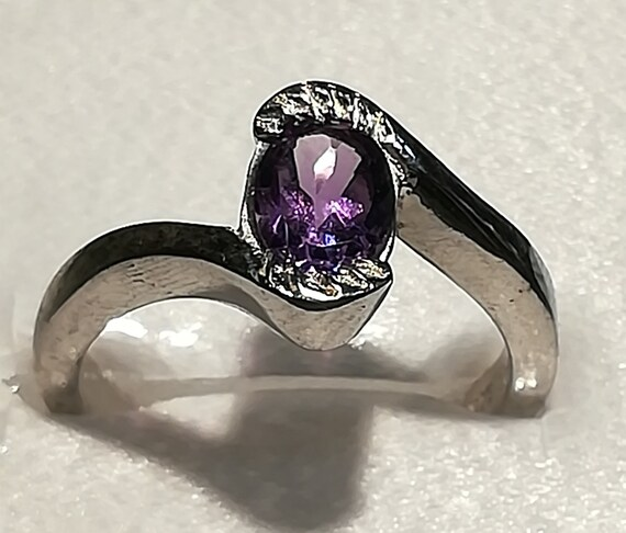 Details about  /Amethyst Band Ring 925 Sterling Silver Ring Women Handmade Jewelry 0138