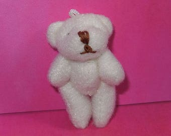 White Teddy bear mini pendant