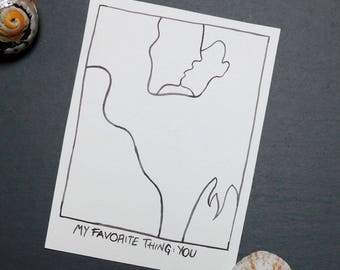 My favorite thing Postcard