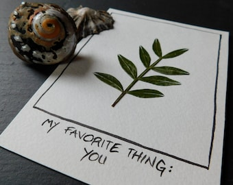 My favorite thing (herbarium) postcard