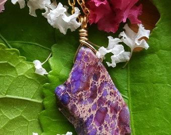 Purple Copper Simple Necklace