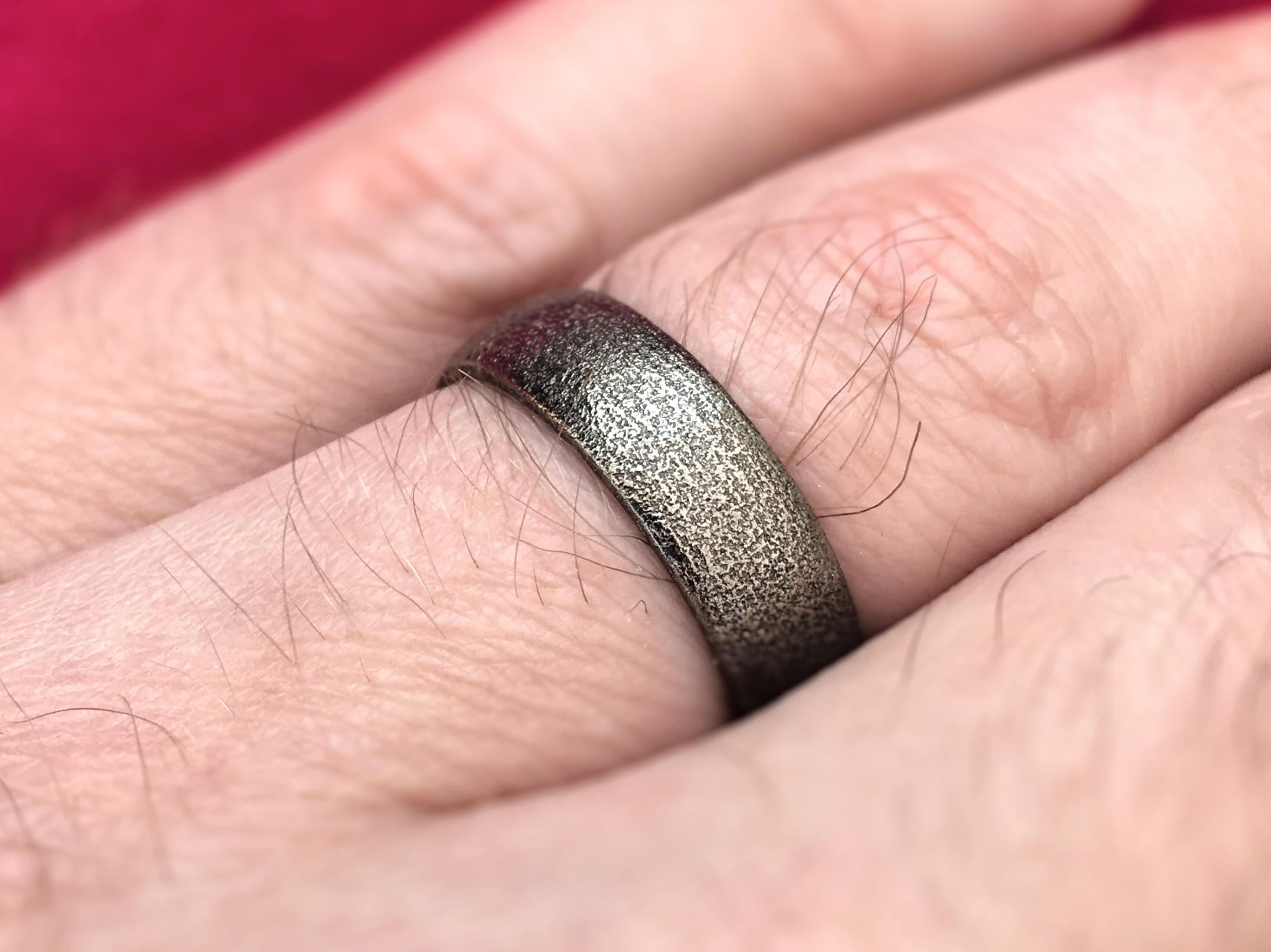 Men\'s Wedding Band Ring 3D Printed Stainless Steel | Etsy