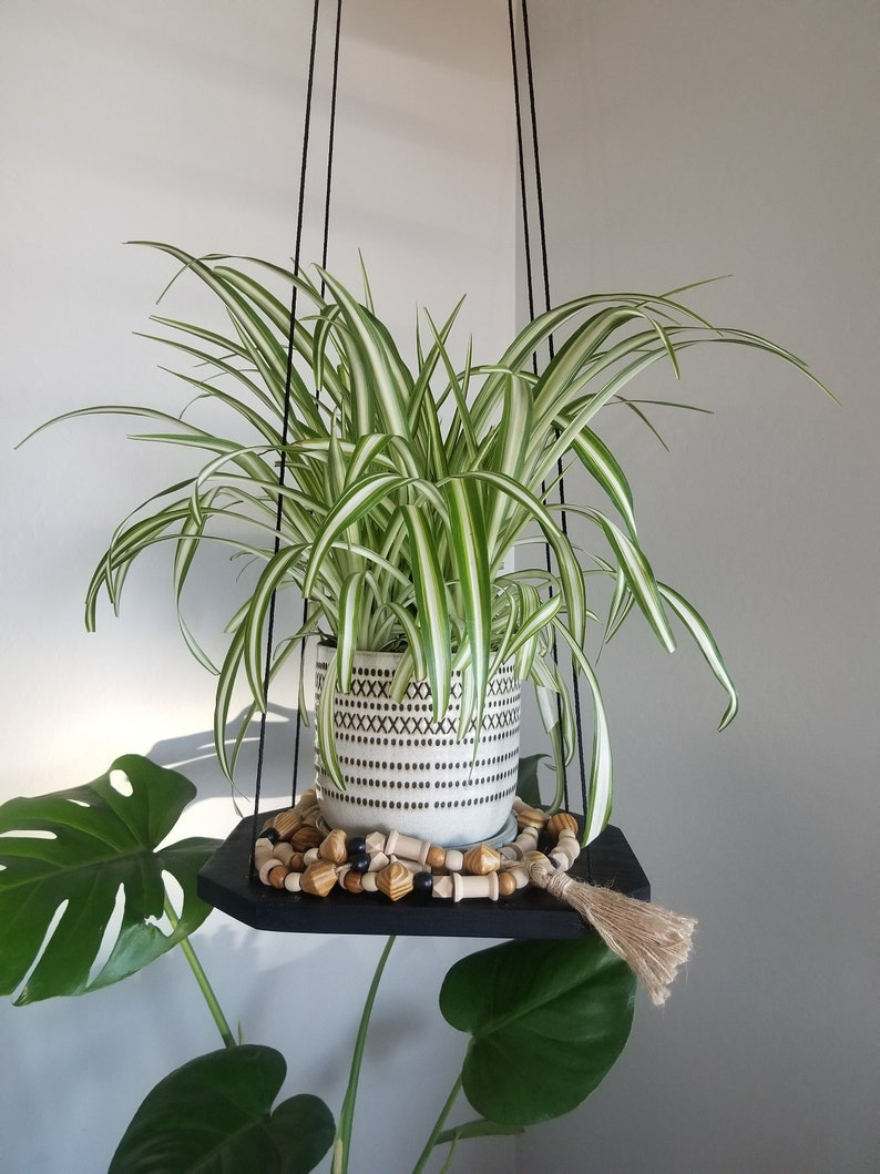 Black Hanging Plant Shelf