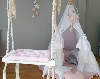 Handmade Wooden Indoor Outdoor Swing BabyUniqueCorn