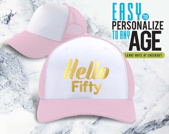 Hello 50 1968 50th Birthday Gifts Idea Hat Gift For Women Vintage