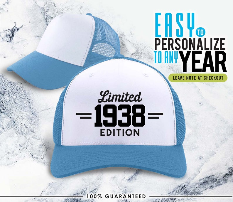 1938 80th Birthday Gifts Gift Hat For Women Vintage