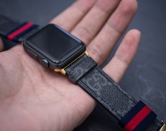 f7c5624ac47 Gucci Apple Watch Band Series 1 2 3 4 Authentic Gucci Apple Watch Band  Handmade Gucci Watch Band