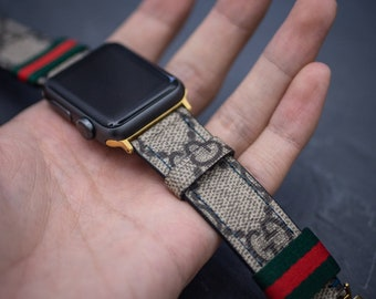 9106bb2fe6f Gucci Apple Watch Band Series 1 2 3 4 Authentic Gucci Apple Watch Band  Handmade Gucci Watch Band
