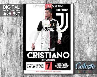 Invitación De La Juventus Cristiano Ronaldo Juve Tarjeta De