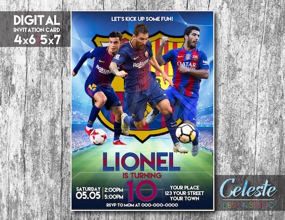 Invitacion Barcelona Fc Barcelona Party Tarjeta De Invitación Digital Invitación Digital Personalizada Invitaciones De Cumpleaños De Fútbol