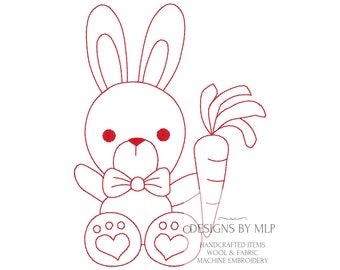Rabbit Outline Etsy