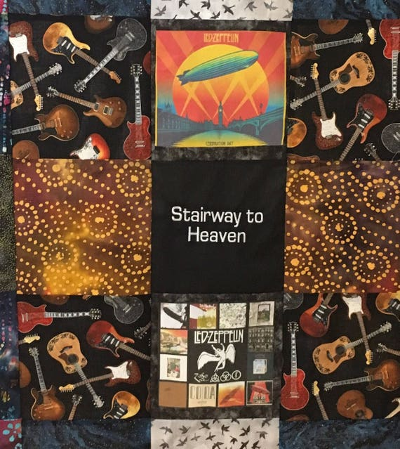 Led Zeppelin Stairway To Heaven Quilt Etsy