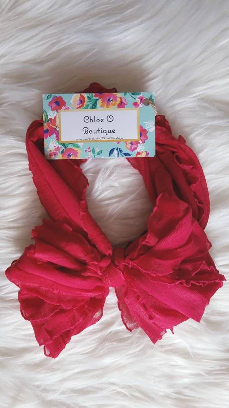 Cardinal Red Messy Bow Headband