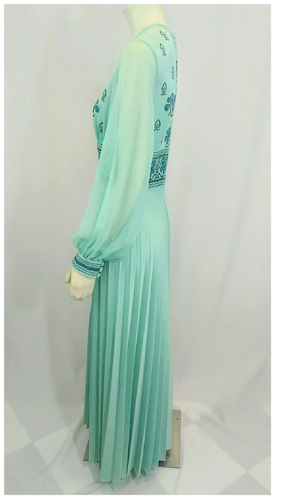 Vintage 1970's Designer Alfred Shaheen Pleated Pa… - image 5