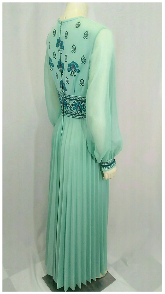 Vintage 1970's Designer Alfred Shaheen Pleated Pa… - image 7