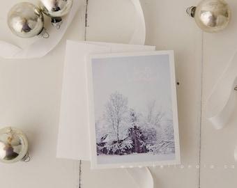 Winter Wonderland scene Holiday Greeting card