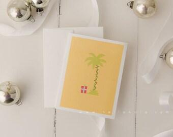 Mele Kalikimaka Hawaiian Christmas Greeting Card