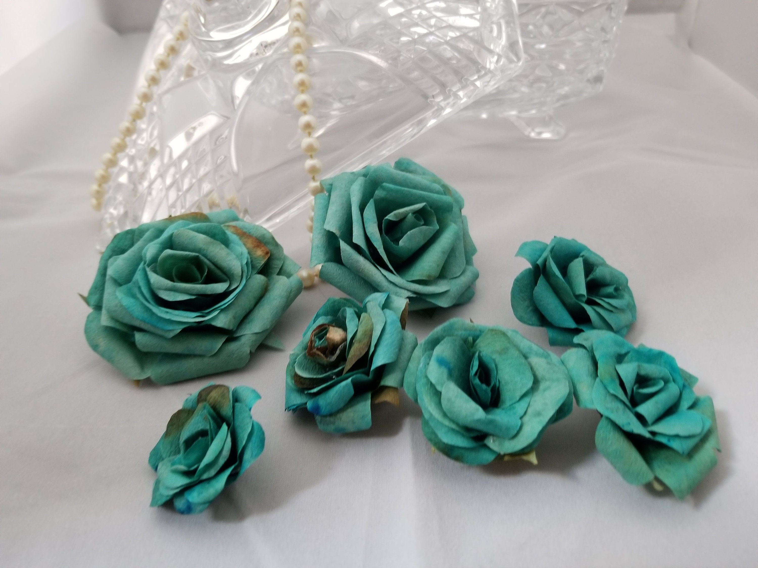Free Shipping Mini Paper Flower Made In Recycled Paper Etsy