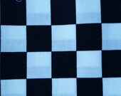 BLACK and WHITE checks fabric, 1 inch squares, versatile, checkerboard, great for masks