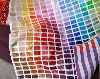 ARTIST COLOR CHART baby quilt, wall hanging