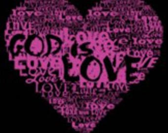God is Love Women's Christian T-Shirt