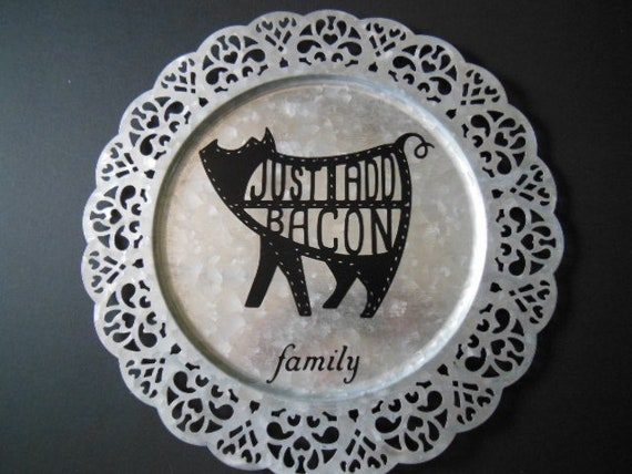 Family 13 In Charger Plate Galvanized Etsy